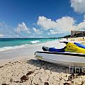 Jet Ski On The Beach At Atlantis Resort by Amy Cicconi