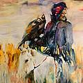 Kasak With Falcon by Miki De Goodaboom