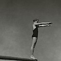 Katherine Rawls Getting Ready To Dive by Edward Steichen