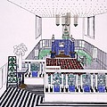 Large Balconied Reception Room by Leopold Bauer