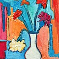 Little Carnations China Pink Flowers by Ana Maria Edulescu