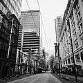 looking down granville street shopping area between the bay and pacific centre Vancouver BC Canada by Joe Fox