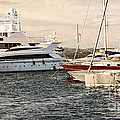 Luxury Boats At St.tropez by Elena Elisseeva