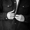 Man Unbuttoning His Shirt by Edward Fielding