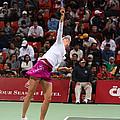 Maria Sharapova Serves In Doha by Paul Cowan