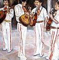 Mariachi  Musicians by Carole Spandau