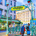 Metropolitain - Parisian Subway Street Scene by Mark E Tisdale
