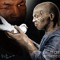 Mike Tyson And Pigeon II by Jim Fitzpatrick
