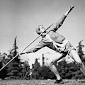 Mildred Babe Didrikson Holding A Javelin by Acme