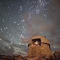 Milky Way Clouds Over The Mount Evans Observatory by Mike Berenson