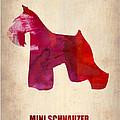 Miniature Schnauzer Poster by Naxart Studio