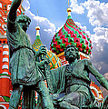 Minin And Pozharsky Monument In Moscow by Oleksiy Maksymenko
