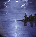 Moonlit Lake by Judy Hall-Folde