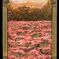 Morning Poppy Fields With Gold Leaf By Vic Mastis by Vic  Mastis