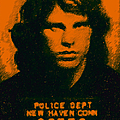 Mugshot Jim Morrison by Wingsdomain Art and Photography