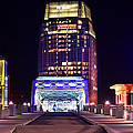 Nashville Sight Night Skyline Pinnacle Panorama Color by Jon Holiday