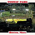 Night Baseball Fenway Park Boston Massachusetts by A Gurmankin