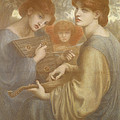No. 1011 Study For The Bower Meadow by Dante Gabriel Charles Rossetti