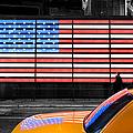 Nyc Cab Yellow Times Square by John Farnan