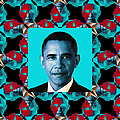 Obama Abstract Window 20130202m180 by Wingsdomain Art and Photography