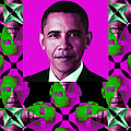 Obama Abstract Window 20130202verticalm60 by Wingsdomain Art and Photography