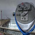 Oceanside Pier California Binocular Vision by Bob Christopher