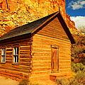 Old Schoolhouse Near Capital Reef Utah by Jeff Swan