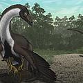 Ornithomimus Mother Dinosaur by Vitor Silva