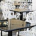 Outdoor Cafe Tables by Oscar Gutierrez