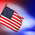Patriotic American Flag by Olivier Le Queinec