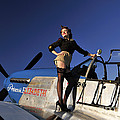 Pin-up Girl Standing On The Wing by Christian Kieffer