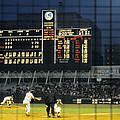 Pitching To A Hitter In Old Yankee Stadium by Retro Images Archive