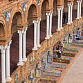 Plaza De Espana Colonnade In Seville by Artur Bogacki