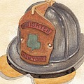 Proud To Be Irish Fire Helmet by Ken Powers