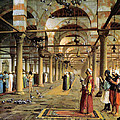 Public Prayer In The Mosque  by Jean Leon Gerome