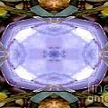 Purple Clam Shell Mandala Yantra by Marie Jamieson