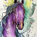 Purple Horse by Angel Ciesniarska