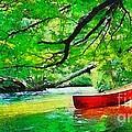 Red Canoe by Elizabeth Coats