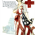 Red Cross World War 1 Poster  1918 by Daniel Hagerman