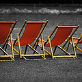 Red Deck Chairs by Mikhail Pankov