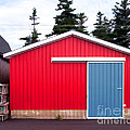 Red Fishing Shack Pei by Edward Fielding