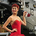Redhead Pin-up Girl In 1940s Style by Christian Kieffer