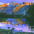Rocky Mountain Lake by David Lloyd Glover