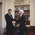 Ronald Reagan And John Mccain by Carol Highsmith