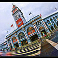 San Francisco Ferry Building Giants Decorations. by Blake Richards