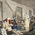 Scene In Bedlam, Plate Viii, From A by William Hogarth
