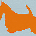 Scottish Terrier Orange by Naxart Studio