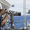 Seaman Apprentice Stands Watch Aboard by Stocktrek Images