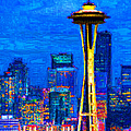 Seattle Space Needle 20130115v1 by Wingsdomain Art and Photography