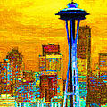 Seattle Space Needle 20130115v2 by Wingsdomain Art and Photography